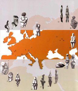mappa dee paleolitico